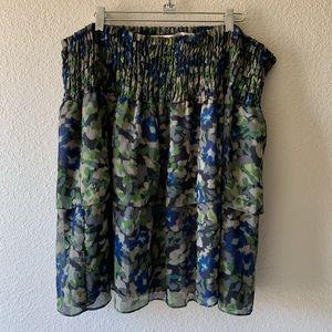 DKNY Jean ruffled layer Skirt.